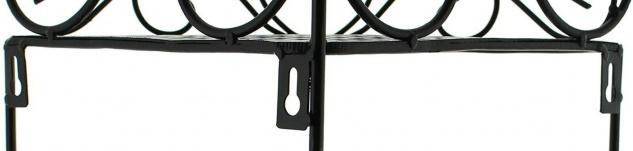 """Eckregal """" Ranken"""" aus Metall, schwarz, 3 Ebenen, Hänge Wand Stand Eck Regal - Vorschau 5"""