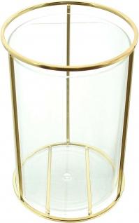 Vase aus Metall & Glas, gold, Windlicht Kerzen Halter Ständer Blumenvase - Vorschau 2