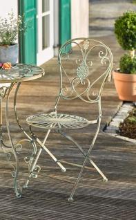 "Metall Stuhl "" Pfauenauge"" im Antik Design, Garten Balkon Terrasse Klapp Sessel"