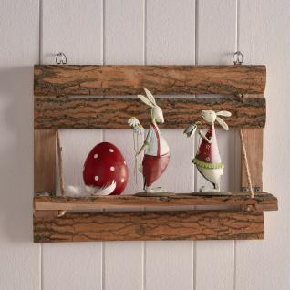 Hänge Schwebe Wand Regal Rinden Holz Upcycling klappbar mit Seil & Halterung