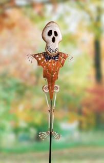 """Garten Stecker """" Skelett"""" 94 cm hoch Deko Sticker Halloween Gartenfigur draußen"""