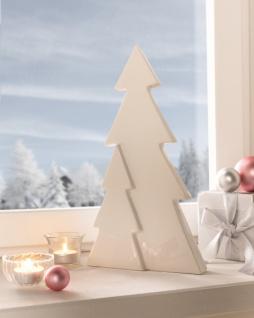 Deko Objekt 'Wintertannen? Tanne Porzellan Figur Weihnachten Winter Baum