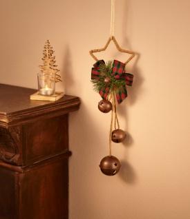 Schmuck Weihnachten.Stern Hänger Glöckchen Deko Weihnachten Weihnachsstern Wand Schmuck Verzierung