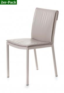 2 er Set Designer Stühle von Braid Concept, elfenbein Esszimmer Küchen Stuhl