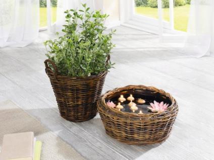 pflanzkorb rattan blumentopf pflanzk bel blumenk bel. Black Bedroom Furniture Sets. Home Design Ideas