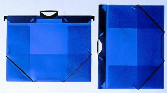 5x Rexel Gummizug & Hängemappe 2in1 blau A4 Eckspann Dokumentan Sammel Mappe