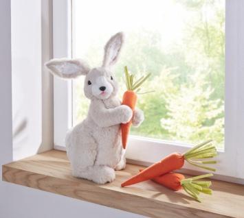 Deko Hase 'Bunny? weiß Stoff Figur Häschen zur Dekoration