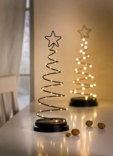 """Metall Tanne """" Spriale"""" mit Stern schwarz mit 36 LED, Weihnachts Leucht Deko Baum"""