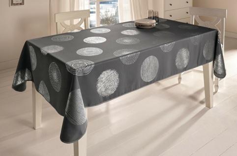 """Tischdecke """" Silberglanz"""" 140x240 grau, abwaschbar Lotus Effekt, Tisch Tuch Wäsche"""