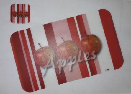 """50x Platzset + 50 Untersetzer """" Apples"""" Tischset abwaschbar Platz Deckchen Matte"""