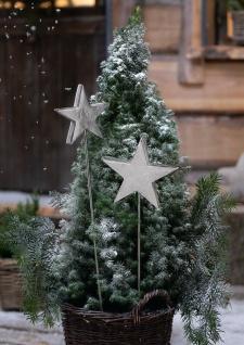 """2 Alu Garten Stecker """" Stern"""" silber, 82 + 106 cm hoch, Weihnachts Deko Sticker"""