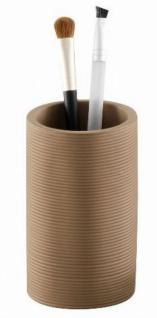 Zeller Design Zahnputzbecher braun aus Marmor / Polyresin