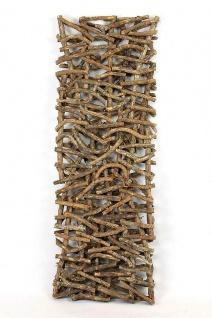 """Deko Objekt """" Rustikal"""" aus Rattan & Holz, Raumteiler Paravent Wand Bild Skulptur - Vorschau 3"""