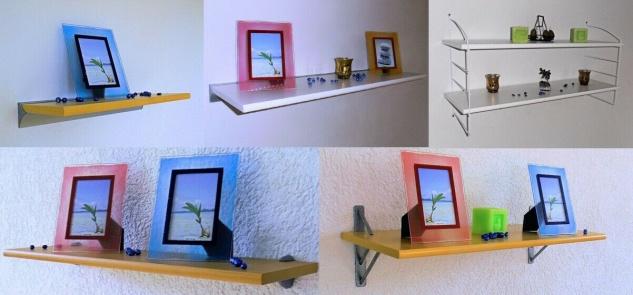Wand Regal PURE, furniert, Größe / Farbe wählbar, Board Brett Bücher DVD Deko