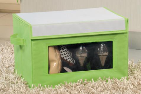 Kesper Schuhbox Mit Sichtfenster Faltbar Schuhkarton Schuh Aufbewahrung Kiste - Vorschau 1