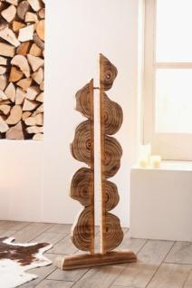 """Deko Objekt """" Artwork"""" aus Holz, 105 cm hoch, geflammt, Kunst Skulptur Säule - Vorschau"""
