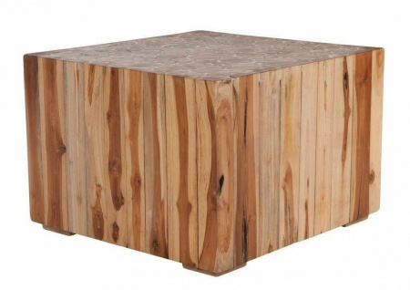 Design Couchtisch ROMANTEAKA von SIT 60x60 recyceltes Teak Holz Beistell Tisch