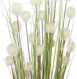 """Deko Bündel """" Blütenkugel"""" 4er Set, 105 cm hoch, Kunst Gras Gräser Zweige Blumen - Vorschau 2"""