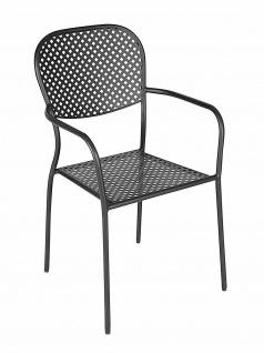 8 er Set Stühle, grau für Innen + Aussen, Küchen Balkon Terrasse Garten Stuhl