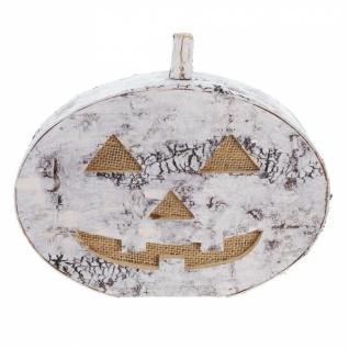 LED Kürbis 'Birkenrinde? Halloween Gruselkürbis Tisch Licht Leucht Deko - Vorschau 2