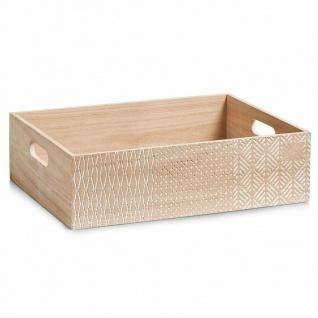 "Zeller Aufbewahrungs Kiste "" Nordic"" Holz natur, 39, 5x29, 5, Ordnungs Regal Box"