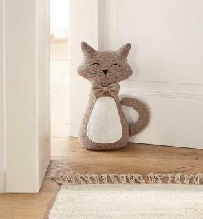 Türstopper Katze CHARLY, Stoff, Boden Tür Feststeller Puffer Halter Wind Stopper