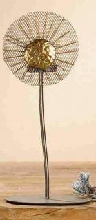 """2x Gilde Metall Teelicht Halter """" Blume"""" silber & Gold, mit Sonne, Kerzen Ständer"""