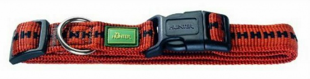 HUNTER NYLON HUNDE HALSBAND Power Grip Vario Basic bronze S 30 - 40 cm HALSUNG