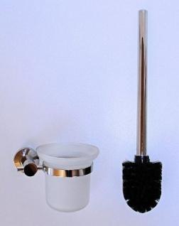 DESIGN WC GARNITUR GLAS + EDELSTAHL glänzend BÜRSTENGARNITUR TOILETTENBÜRSTE NEU