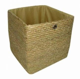 Zeller Flechtkorb Beige 34x31 5x31 5 Regal Aufbewahrungs Stroh Korb Box Kiste