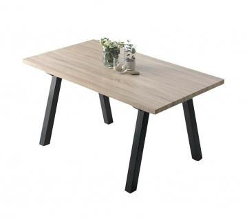 großer Esszimmer Tisch, kanadische Eiche / schwarz, 160x90 cm, Küchen Ess Tisch