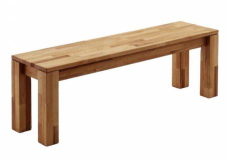 Sitzbank MARTIN Buche 170 cm Küche Esszimmer Massiv Holz Sitz Bank ohne Lehne