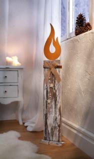 Weihnachtsdeko Aus Holzstamm.Holz Säule Rustikale Flamme Weihnachten Advent Deko Objekt Weihnachtsdeko