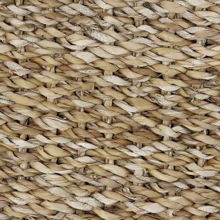 2x Aufbewahrungs Korb aus Seegras mit Griffen, Wäsche Spielzeug Kamin Holz Körbe - Vorschau 5
