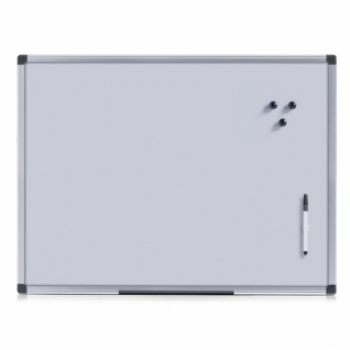 Zeller Magnet Tafel silber mit Alu Rahmen Schreib Pinn Memo Notiz Board Brett