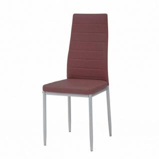 CRIBEL 4 er Set Design Stühle QUEEN, PU Leder bordeaux rot Küche Esszimmer Stuhl
