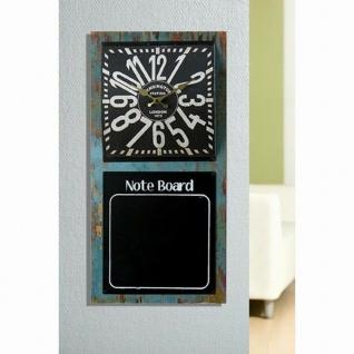"""Gilde 68613 Wand Uhr """" Note Board"""" mit Notiz Memo Keide Tafel, Industrie Design"""