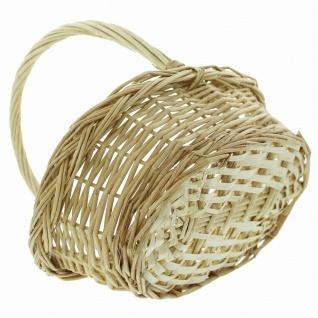 """Bügelkorb """" Naturweiß"""" aus Weide, Brot Obst Aufbewahrungs Geschenk Flecht Korb #1 - Vorschau 3"""