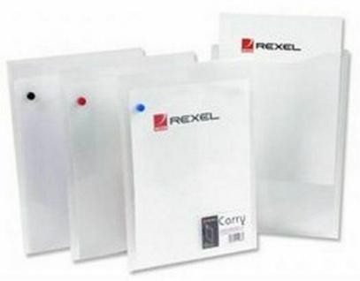 30x Rexel Dokumenten Tasche A4 hoch klar Papier Akten Sammel Sicht Mappe