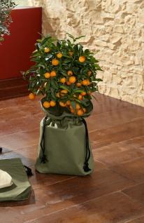 2er Set Pflanzbeutel aus Nylon oliv grün, Pflanz Tasche Sack Korb Blumen Kübel