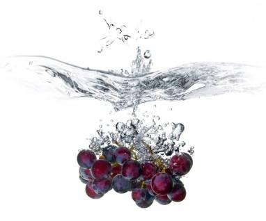 """Küchen Rückwand """" Weintrauben"""" aus Glas, 60x50 Herd Spüle Spritz Schutz Platte"""