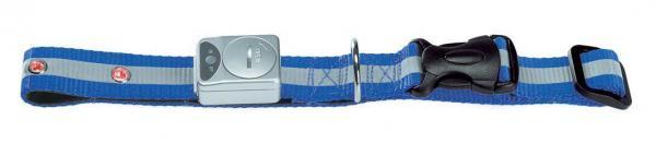 HUNTER NYLON HUNDE HALSBAND Flashing Collar blau 35 - 45 cm LED LEUCHTHALSBAND