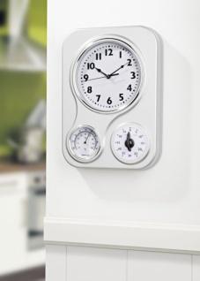3in1 Retro Küchen Wand Uhr mit Thermometer + Timer Kurzzeitmesser Eieruhr
