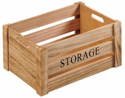 """KESPER AUFBEWAHRUNGSBOX """" Storage"""" Gr M aus FSC PAULOWNIA HOLZ ALLZWECK KISTE BOX"""