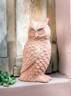 """große Deko Eule """" Hedwig"""" 41cm hoch Terracotta Eulen Figur Garten Statue Skulptur"""