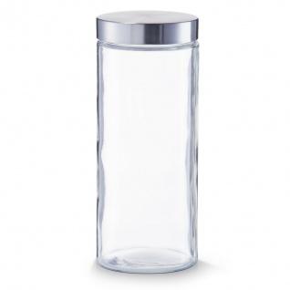 6 Zeller Vorrats Gläser 2100 ml mit Edelstahl Deckel, Dose Behälter Glas Set