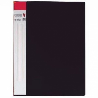 6x HETZEL SHOW IT SICHTBUCH schwarz mit 20 DIN A4 PROSPEKTHÜLLEN SICHTMAPPE NEU