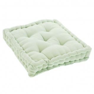 Boden Kissen grün, 40x40 x 8 cm, Baumwolle, Stuhl Matratzen Sitz Lounge Polster