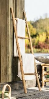 Bambus Leiter, 115cm hoch, Handtuch Halter Holz Kleider Ständer Pflanzen Regal