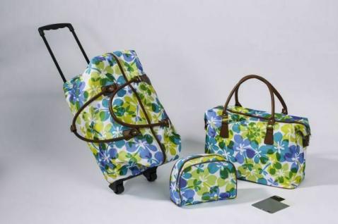 """2er Reisetaschen Set """" Weekend"""" Handgepäck Trolley + Kosmetik Beauty Case Tasche"""